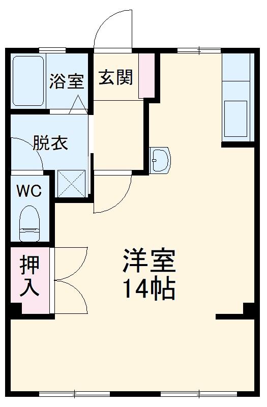 上名古屋マンション・202号室の間取り