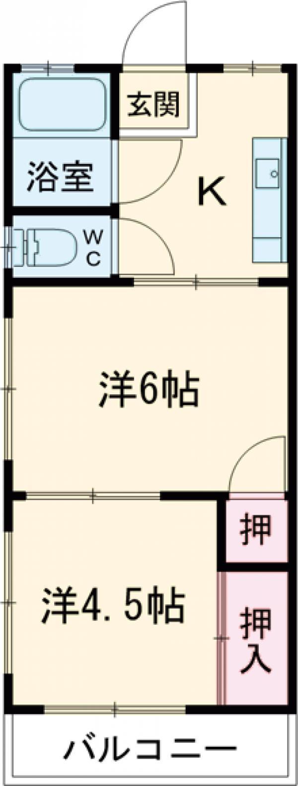 栄荘・101号室の間取り