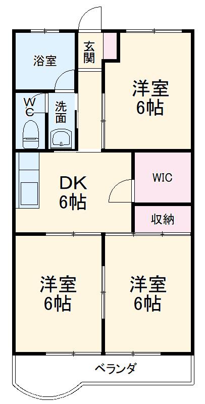 第2岐南ビル 3B号室の間取り