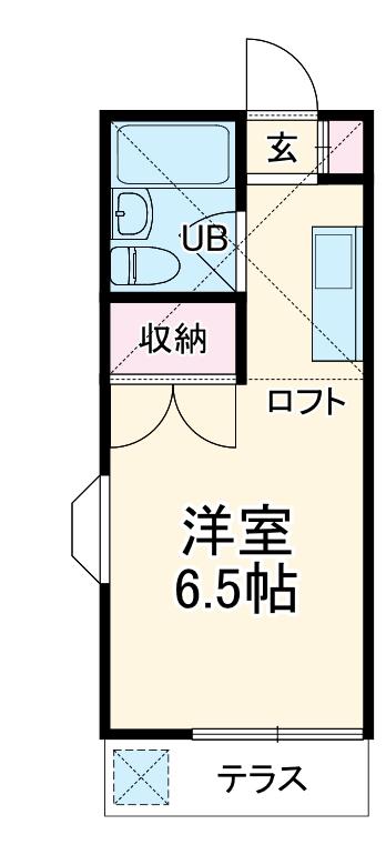 メゾン上福岡 203号室の間取り