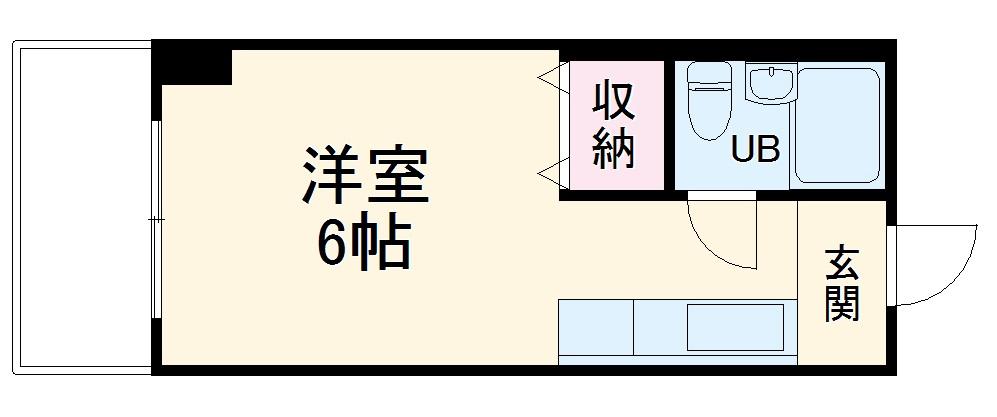 アドラシオン橋本・805号室の間取り