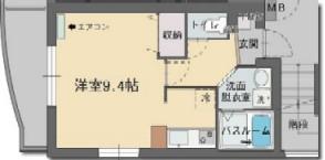 パセオ桜川・303号室の間取り