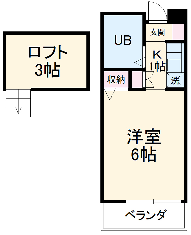 池田ハイツA・206号室の間取り