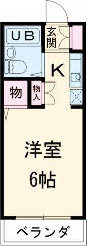 池田ハイツB・111号室の間取り