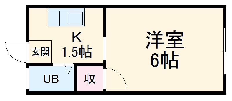 堀田ビル・305号室の間取り