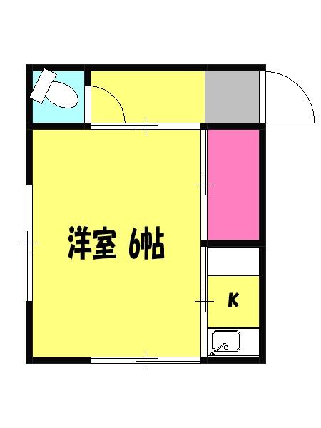 今井荘・3号室の間取り