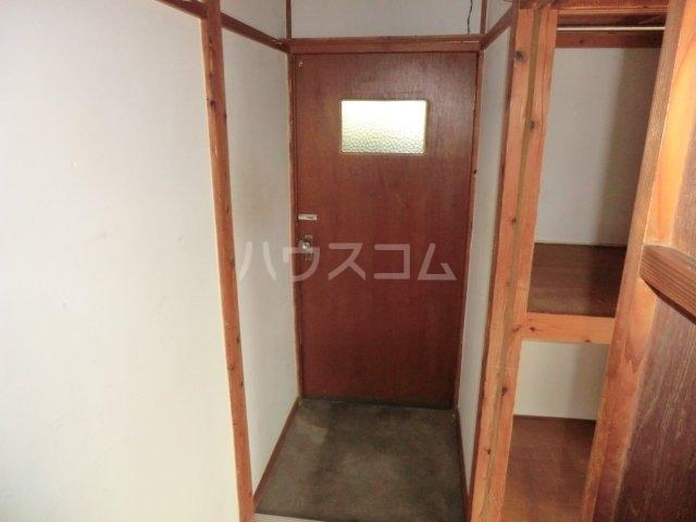 今井荘 3号室の玄関