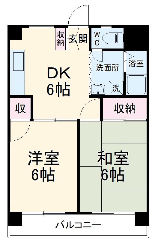 東浦和マンション・312号室の間取り