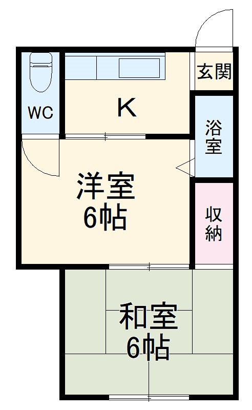 中村アパート 205号室の間取り