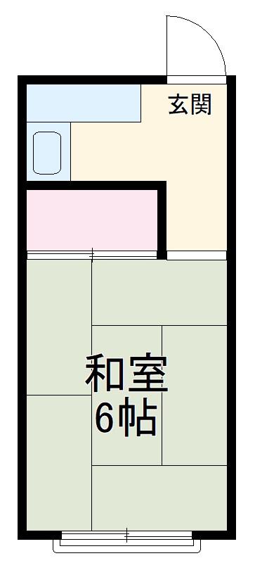 添田荘アパート・6号室の間取り