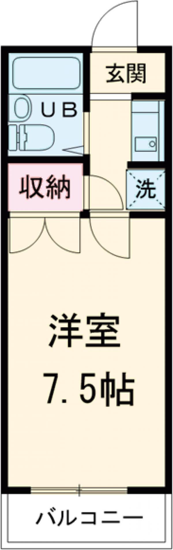 プチ桜・403号室の間取り