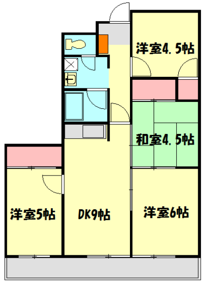 メゾンドール加藤・305号室の間取り