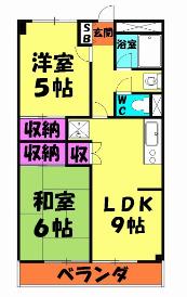 第1武笠ビル・305号室の間取り