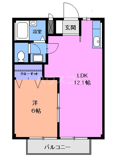 グランドハイツⅠ・02030号室の間取り