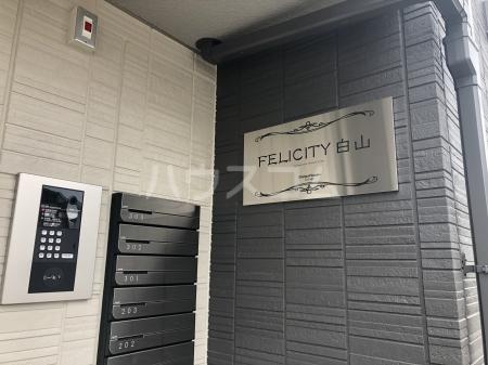 フェリシティ白山 101号室のセキュリティ