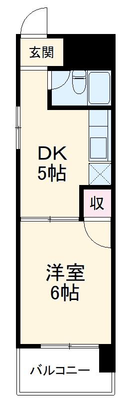 フジマンション九品町・206号室の間取り