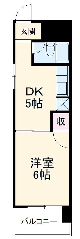 フジマンション九品町・304号室の間取り