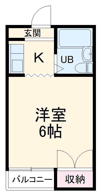 文教町ファミールマンション・3A号室の間取り