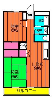 第1武笠ビル 304号室の間取り