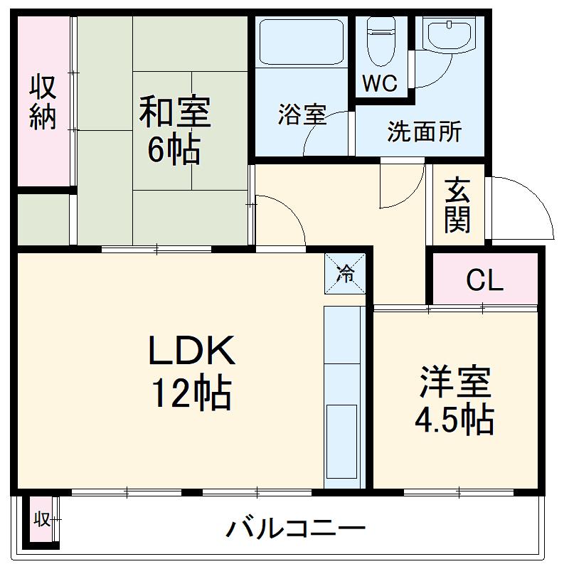 KSマンション 0503号室の間取り