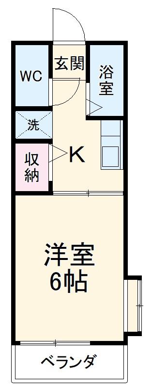 コーポタカダA・103号室の間取り