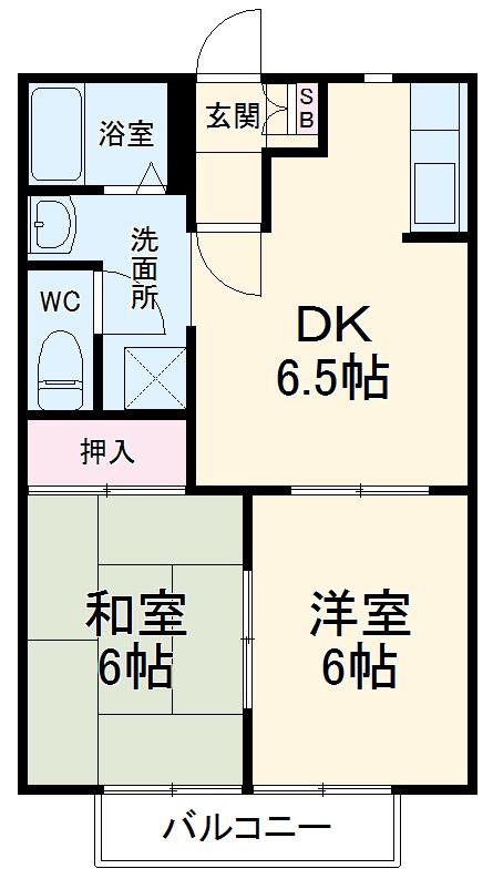 リバーサイドSUWA C棟・202号室の間取り