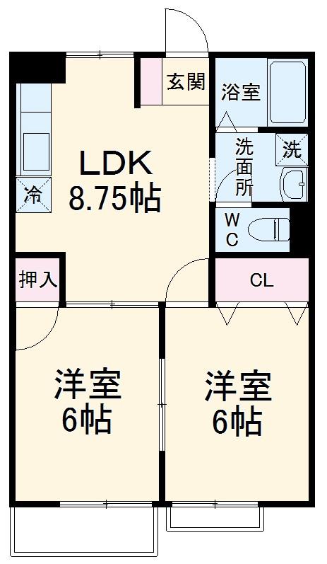 K'S HOUSE C棟 102号室の間取り
