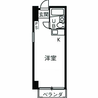 コートハウス・ナダ・3-A号室の間取り