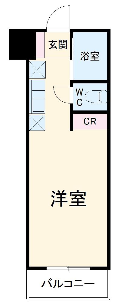第3のぼりマンション・206号室の間取り