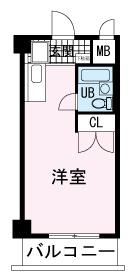 第2のぼりマンション・102号室の間取り