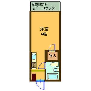 コーポ32・2A号室の間取り