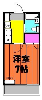 シャルム中村 103号室の間取り