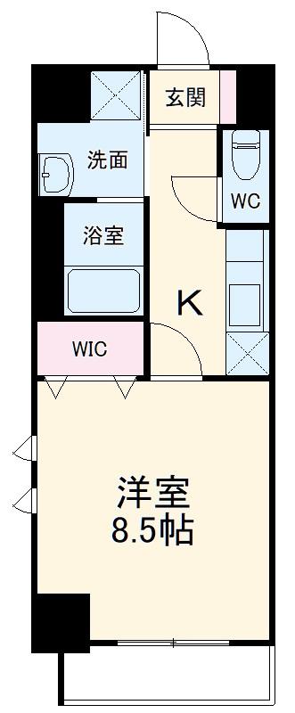 グランメールコート永田町・501号室の間取り