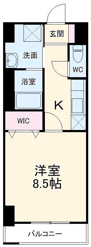 グランメールコート永田町・603号室の間取り