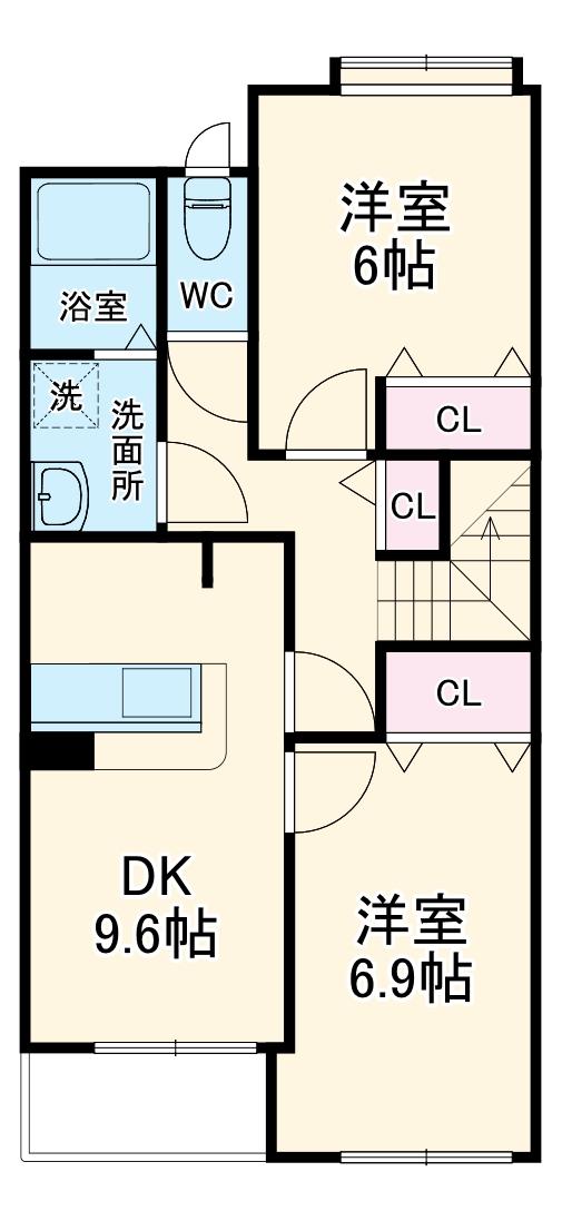 中山マンション参番館・202号室の間取り