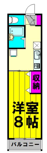 コーポ桜井・103号室の間取り