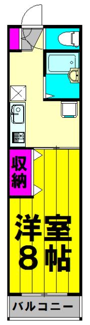 コーポ桜井・105号室の間取り