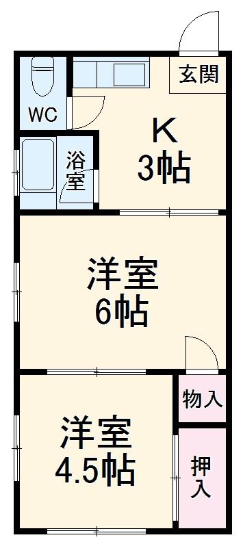 和田ハイツ・201号室の間取り