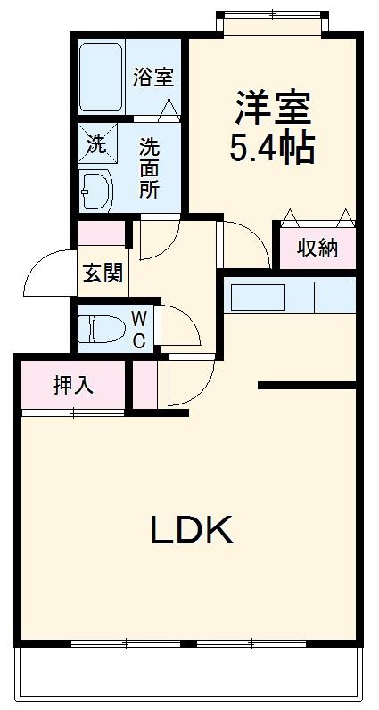 第2レジデンスISHII・206号室の間取り