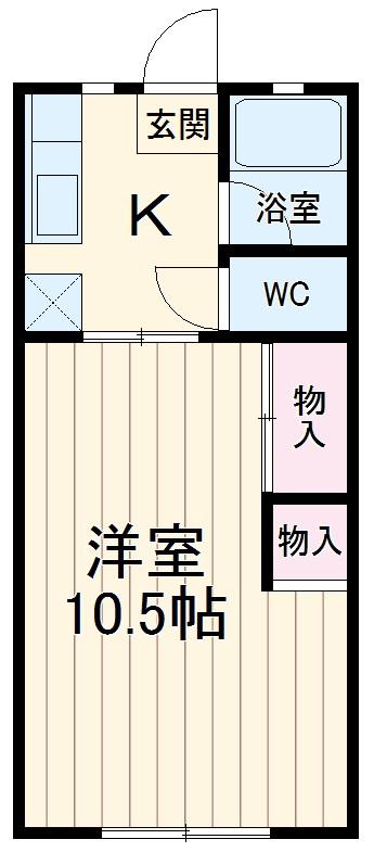コーポヨコタ 0102号室の間取り