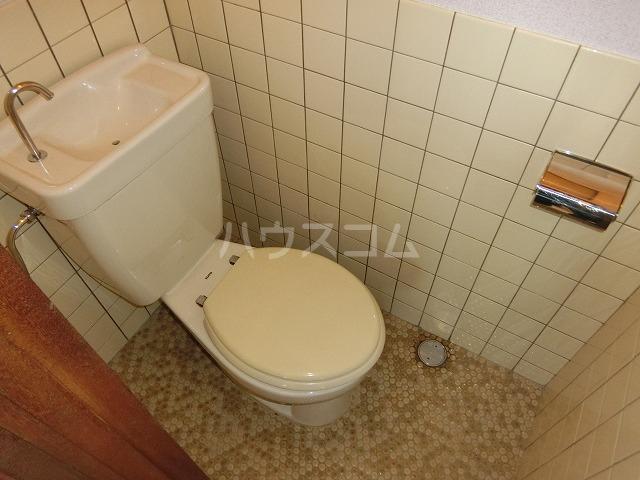 糸与ビル 206号室のトイレ