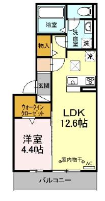 アンプルールK・103号室の間取り