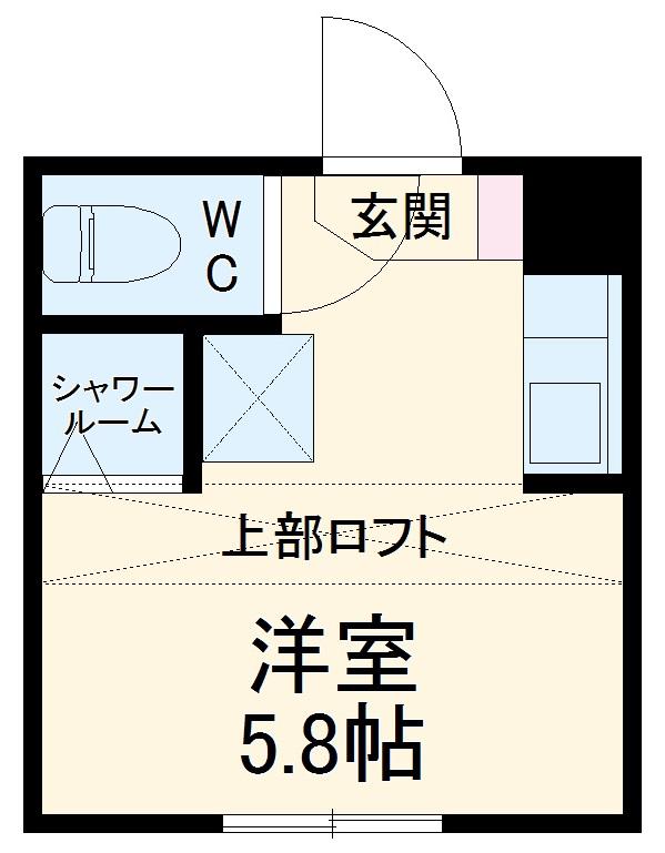 REAL BLOSSOM Ⅱ芝田・102号室の間取り