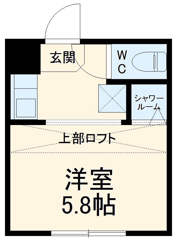 REAL BLOSSOM Ⅱ芝田・103号室の間取り