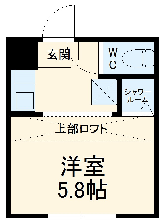 REAL BLOSSOM Ⅱ芝田・105号室の間取り