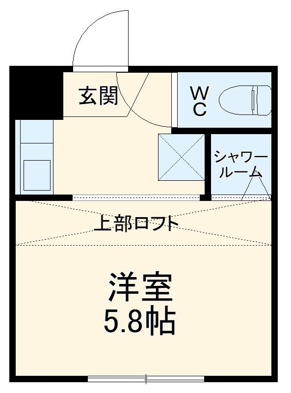 REAL BLOSSOM Ⅱ芝田・107号室の間取り