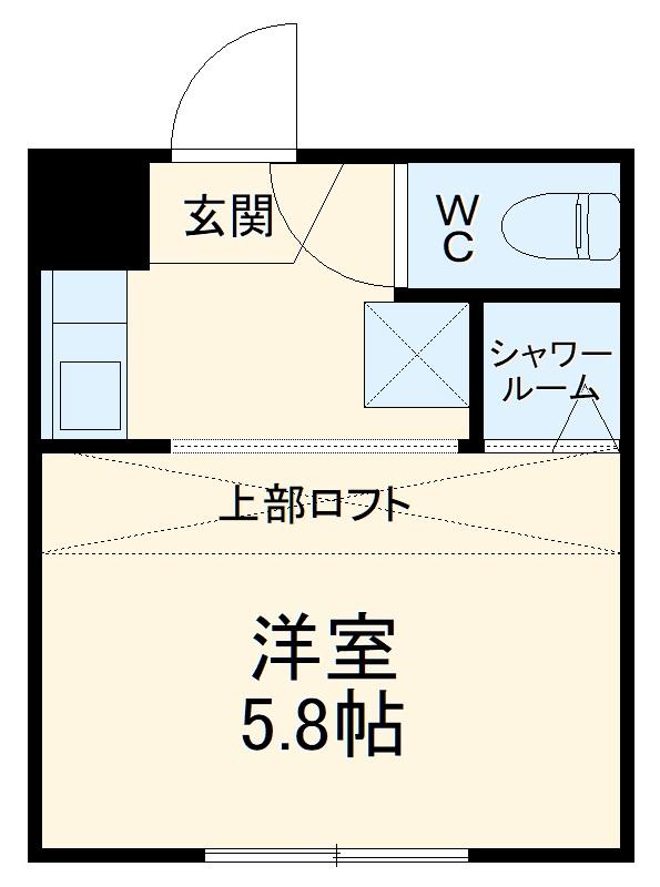 REAL BLOSSOM Ⅱ芝田・108号室の間取り