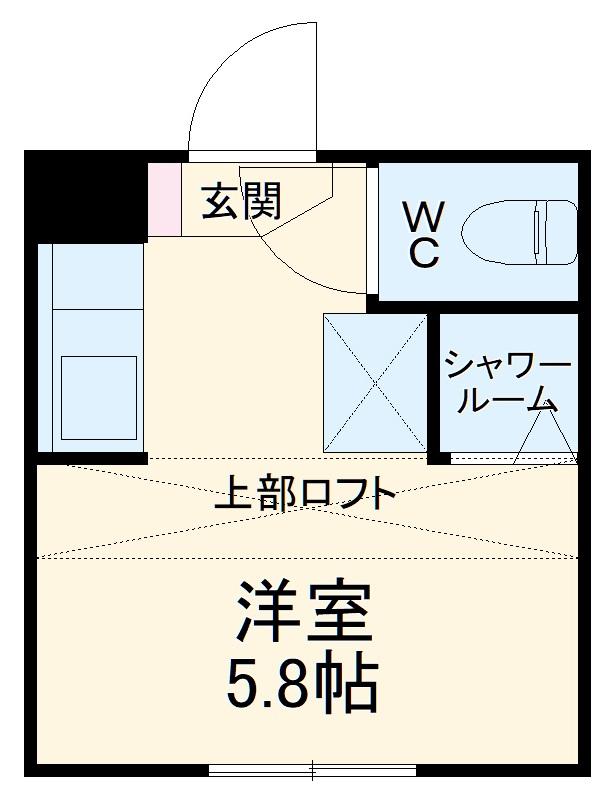 REAL BLOSSOM Ⅱ芝田・110号室の間取り