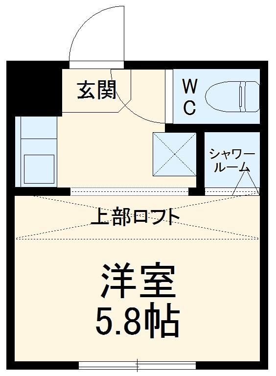 REAL BLOSSOM Ⅱ芝田・202号室の間取り