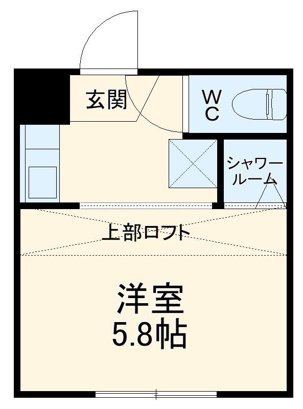 REAL BLOSSOM Ⅱ芝田・205号室の間取り